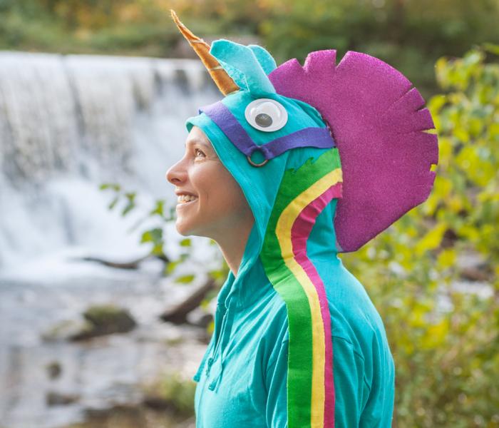 No-Sew Fortnite Rainbow Smash Pickaxe Hoodie