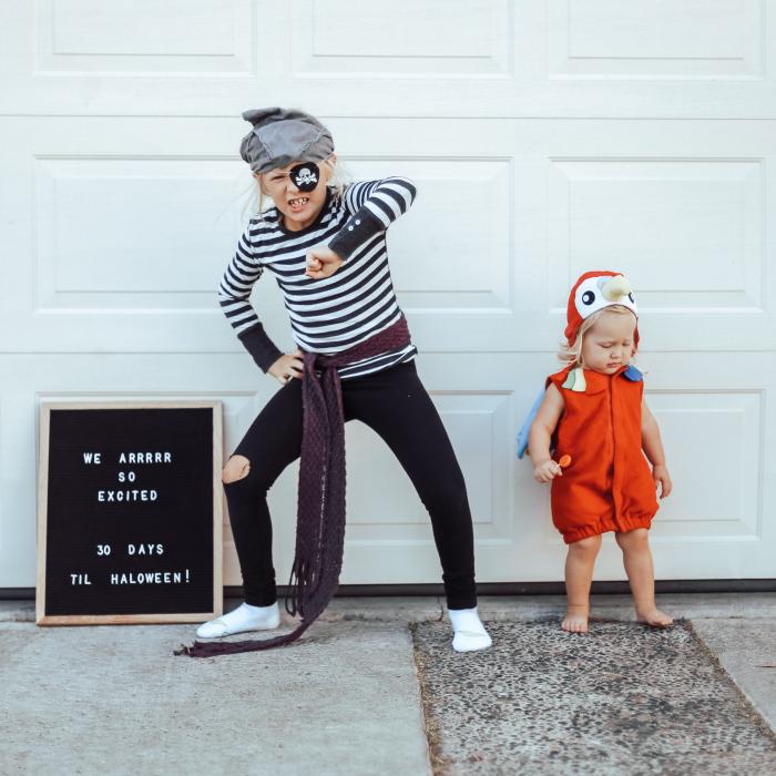 Halloween Kids Costumes Letter Board Countdown