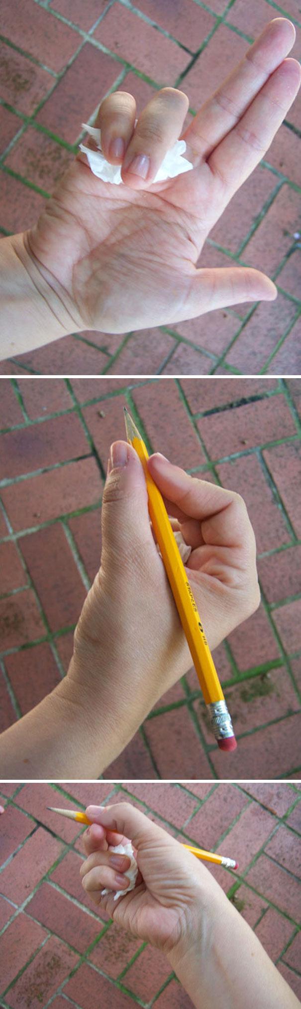 Teach A Child To Hold A Pencil Using A Kleenex