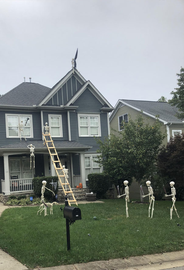 Skeletons Breaking Into Someone's House To Murder Them