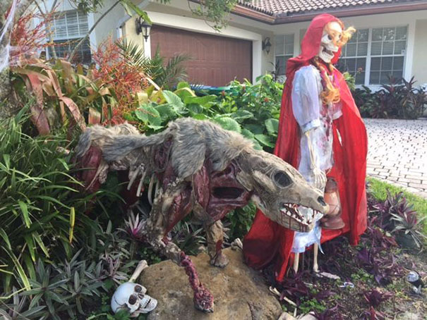 Zombie Wolf And Red Riding Hood