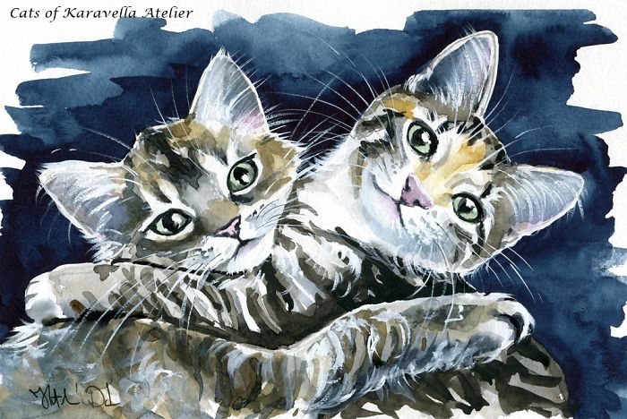 100 Cat Paintings In 10 Months
