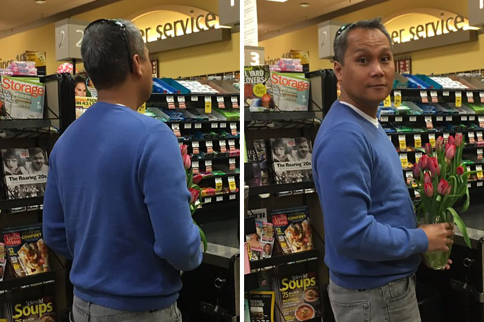 My Mom And I Went To Safeway To Get Some Groceries And We Ran Into My Dad Buying Flowers For Her