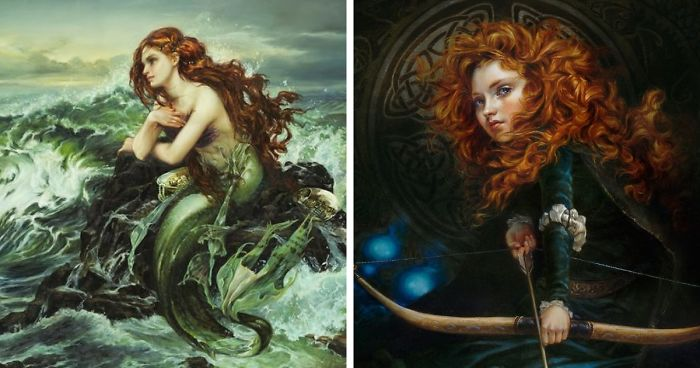 This Artist Creates Oil Paintings Of Disney Characters And The Result Is Better Than The Original