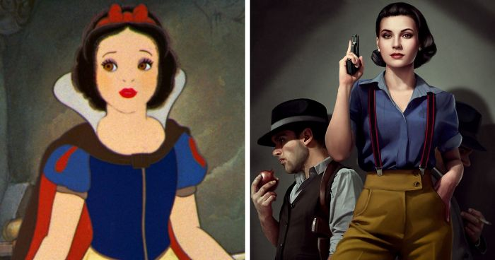 Artist Imagines Disney Princesses On 1940's Mystery Novel Covers, And The Result Is Badass