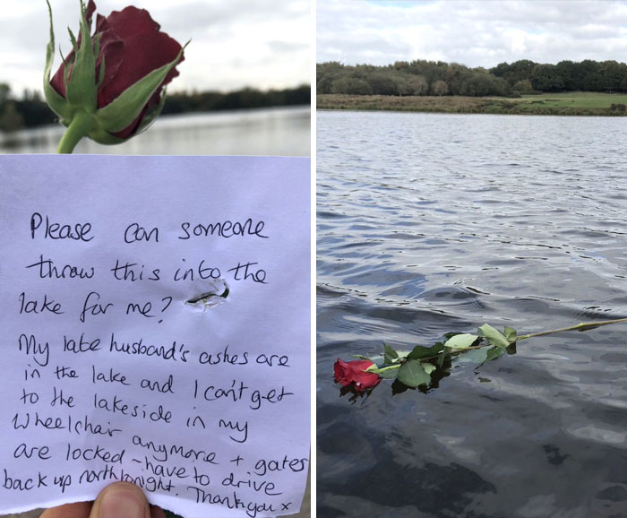 This Note Was Left On The Gate At The Water This Afternoon