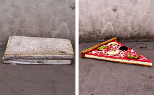 French Street Artist Takes Recycling To Another Level By Transforming Discarded Mattresses Into Delicious Food Sculptures