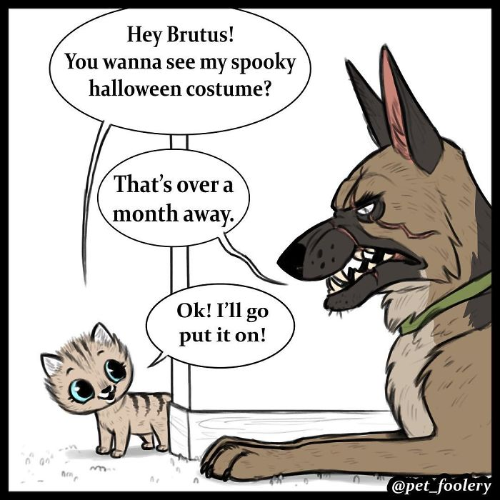 These Hilariously Adorable Comics About Brutus And Pixie Will