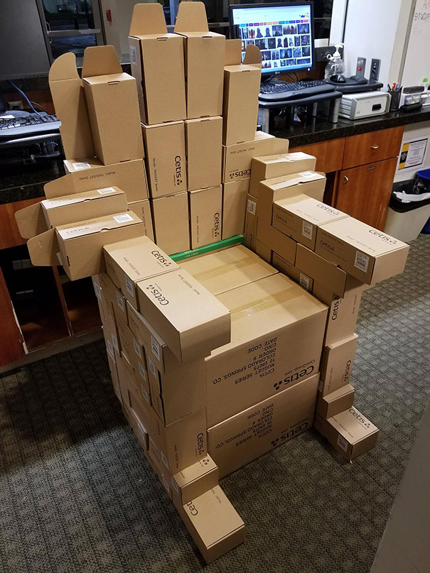 We Were Unpacking Boxes During My Night Shift At Work And I Got Bored
