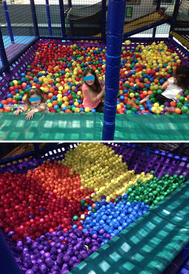Bored Kids Organized A Ball Pit By Color