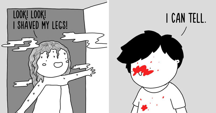 Illustrator Documents Her Daily Struggles And Life With Her Boyfriend In 59 Adorable Comics