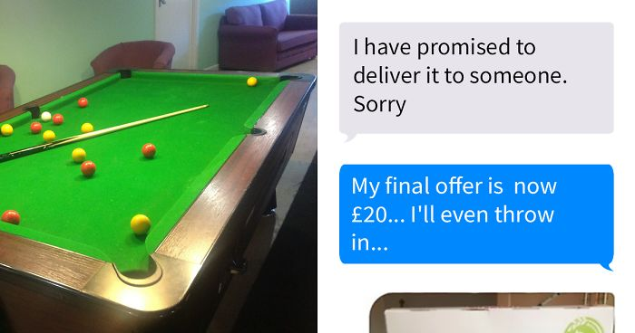 Right After Selling His Pool Online This Guy Received A Hilarious Offer From Another Buyer He Couldn't Refuse