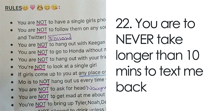 Controlling Girl Set 22 Rules For Her Boyfriend, So The Internet Gave Him Some Surprising Advice