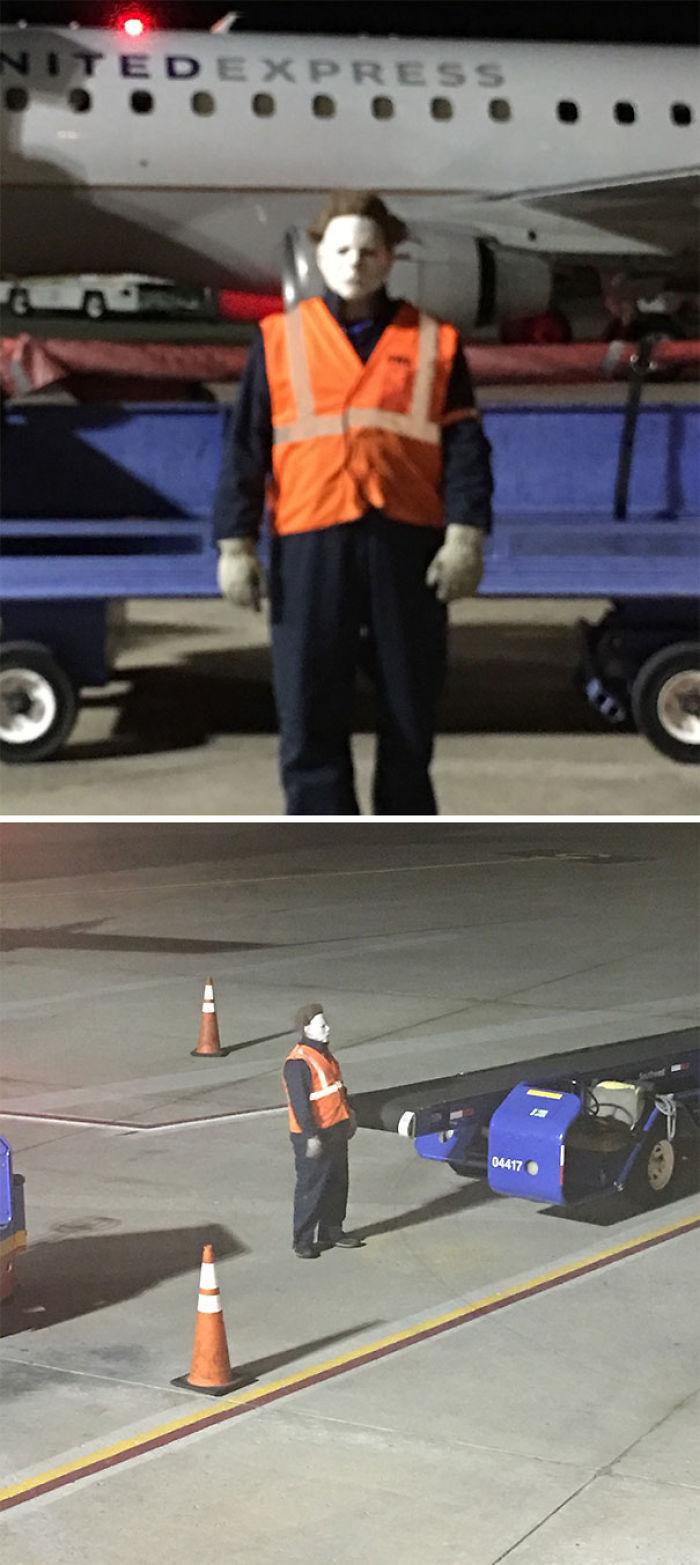 Michael se ha colado en el aeropuerto
