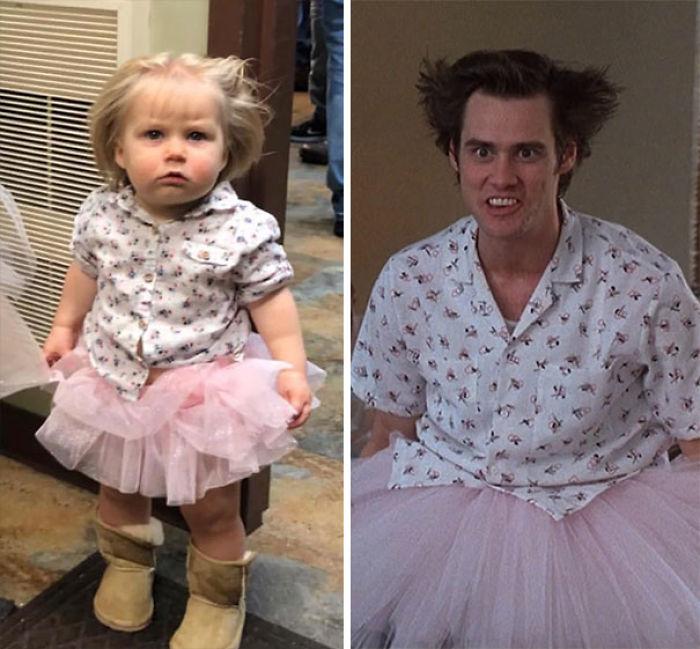 Mi hija de 1 año como Ace Ventura en el hospital mental
