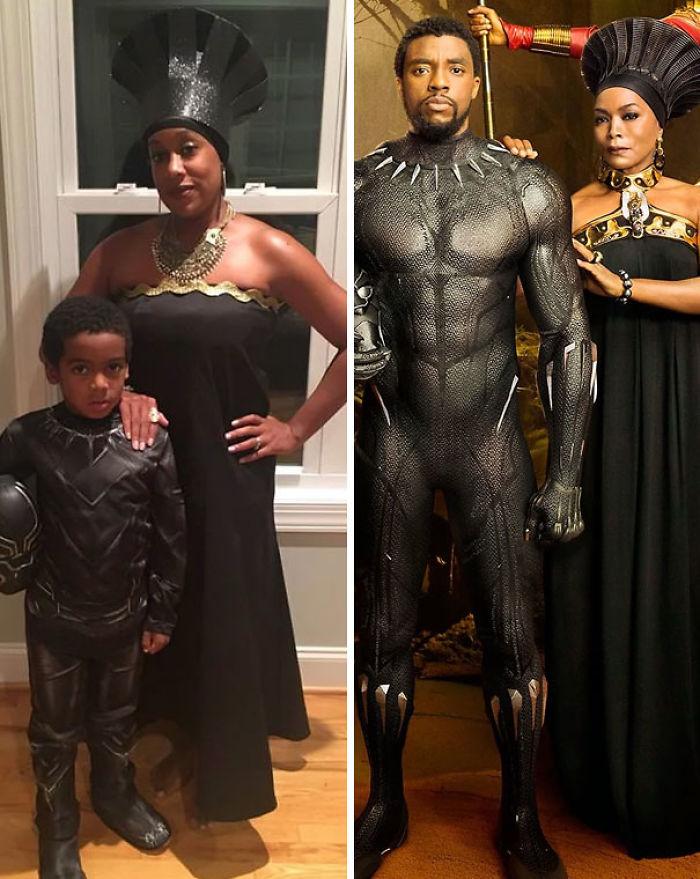 Disfraz de Black Panther, madre e hijo