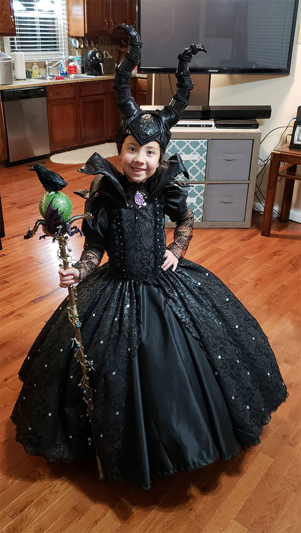 My Daughter's Maleficent Costume Made By My Wife And Mother-In-Law