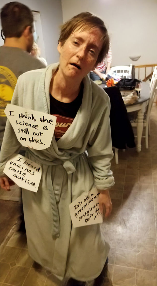 Dressed Up As An Anti-Vaxer For Halloween Party. It Was A Hit