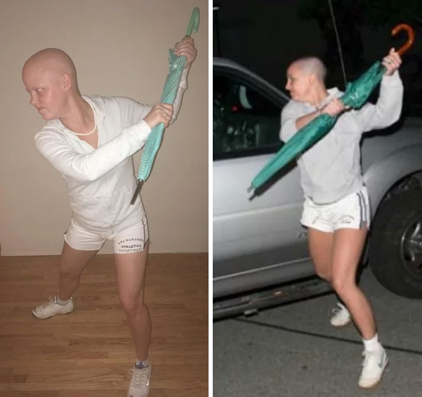 My Friend Is Going Through Chemo And Decided To Use The Opportunity To Attempt To Win Halloween