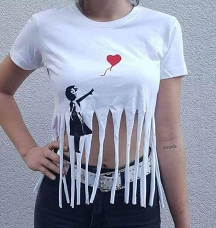 El cuadro despedazado de Banksy