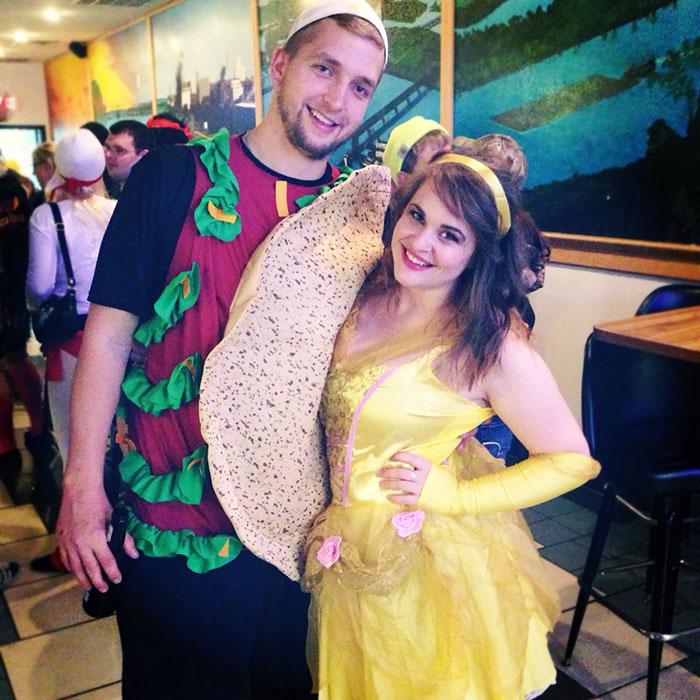 Mi novio y yo fuimos de Taco Bell-a