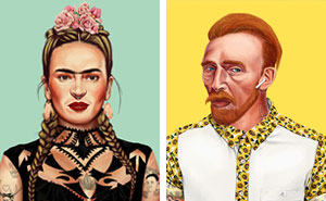 I Illustrated How The World's Most Iconic Artists Would Adapt To Today's Hipster Trends