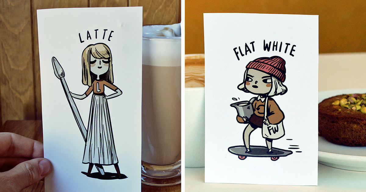 Different Types Of Coffee Inspired Me To Create These Cute Characters