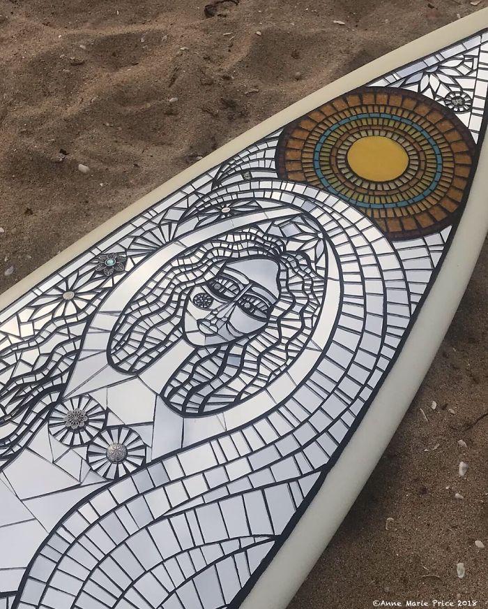 I Make Fine Art Mosaic Surfboards