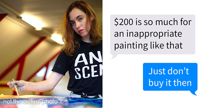 A Client Tried To Lowball This Artist Who Made An 'Inappropriate Painting', So He Shared His Messages Online