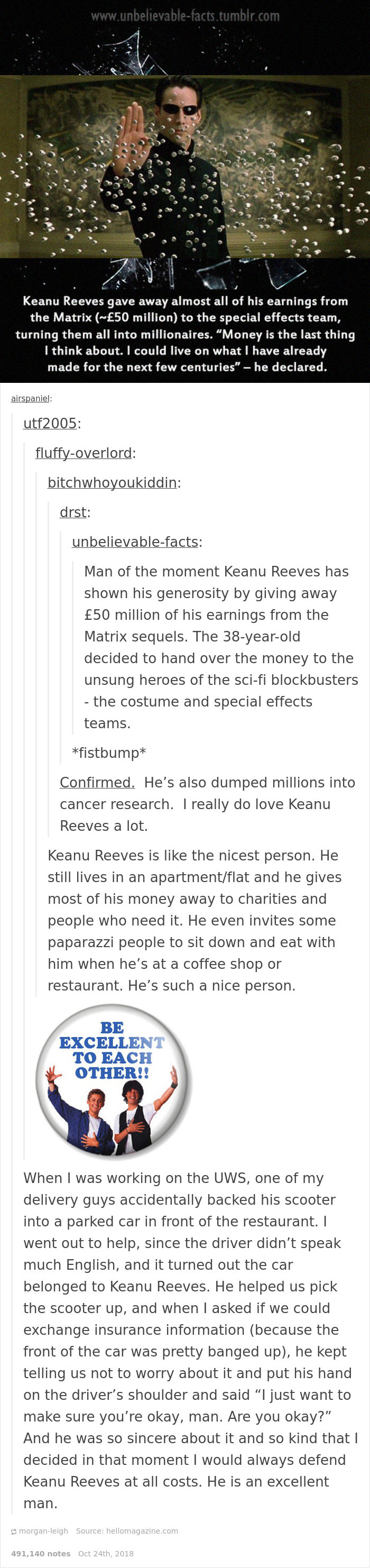 20 Tumblr Posts That Prove How Lucky We Are To Have Keanu Reeves