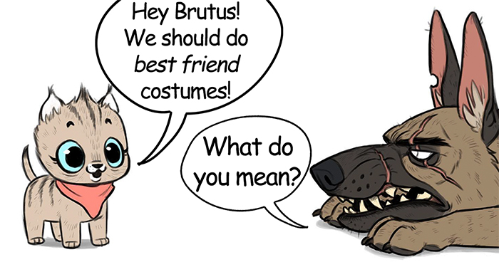 There's A New Halloween Comic About Brutus & Pixie That Will Instantly Make Your Day