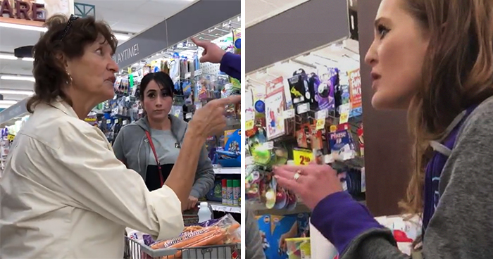 Racist Woman Attacks Two People For Speaking Spanish In Grocery Store, Gets What She Deserves