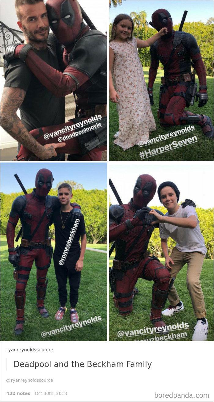 He Once Met The Beckham Family In Full Costume