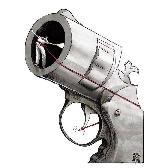 Excellency Prize At 18th World Press Freedom International Editorial Cartoon Competition