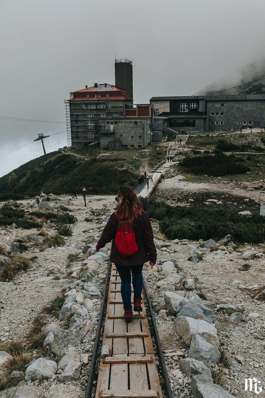 On Trail To Mountain Railway Station On Skalne Pleso