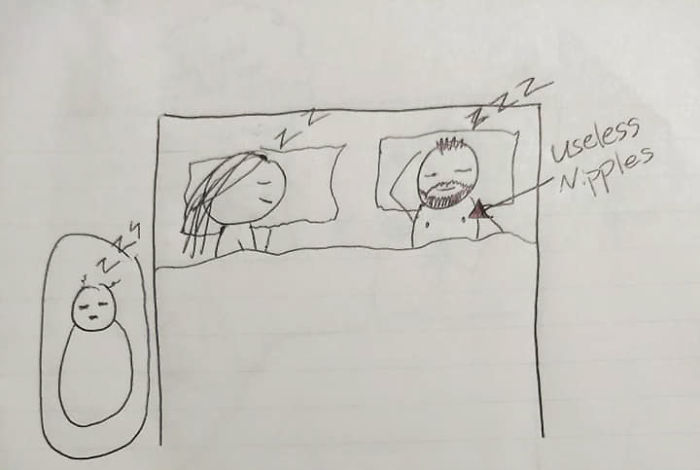 This Woman Drew A Comic To Explain To Her Husband Why She's So Tired, And It Will Crack You Up