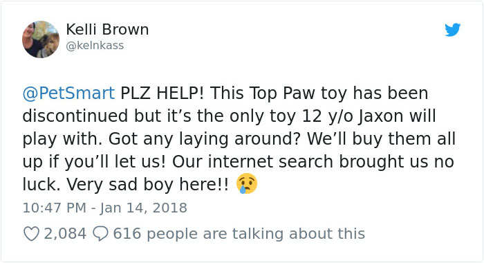 The Internet Comes Together To Find A Discontinued Toy For This Elderly Dog