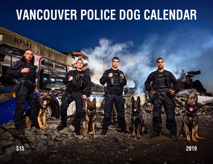 Vancouver Police Canine Unit Just Released Their 2019 Charity