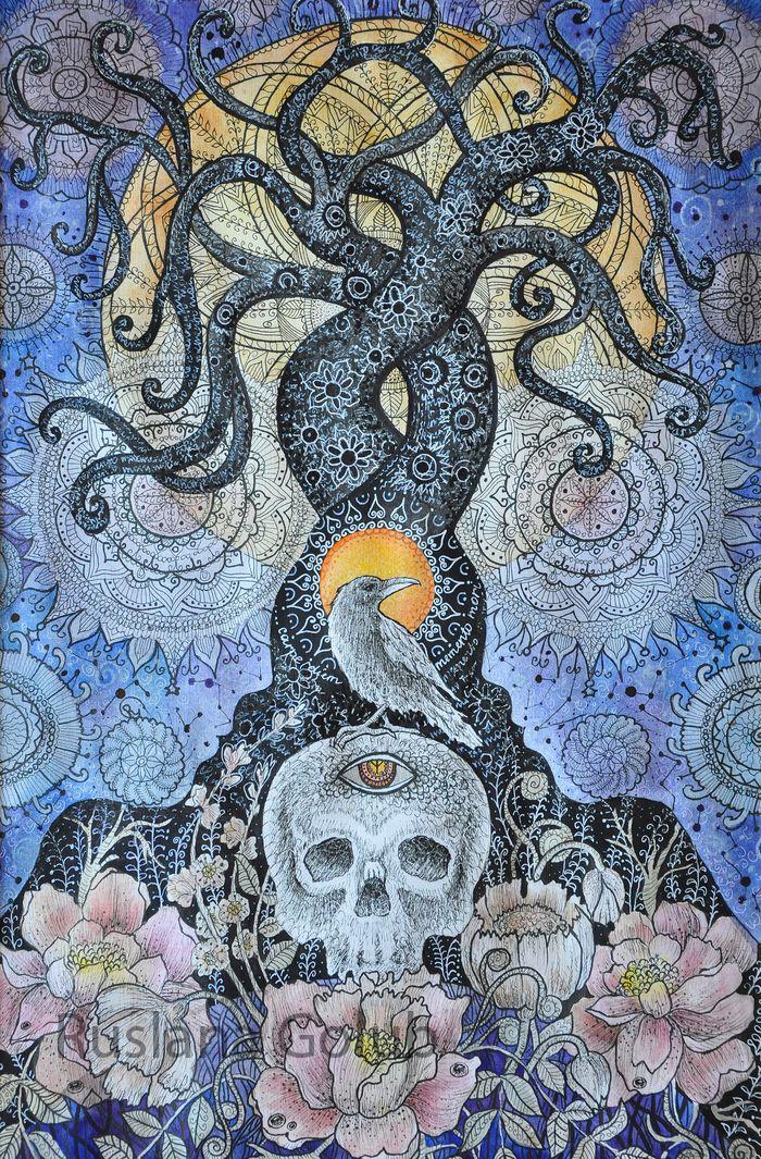 Spiritual Art. Watercolor Paintings By Ruslana Golub