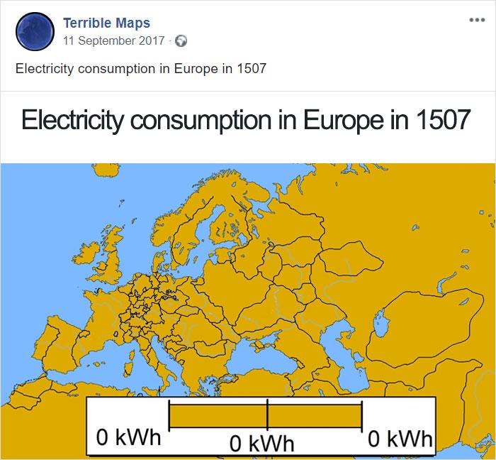 Consumo eléctrico de Europa en 1507