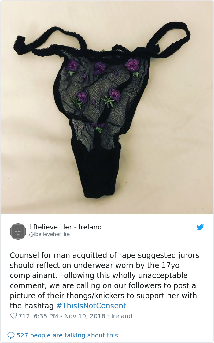 Women Tweet Pics Of Their Underwear After A Teenager's Thong Was