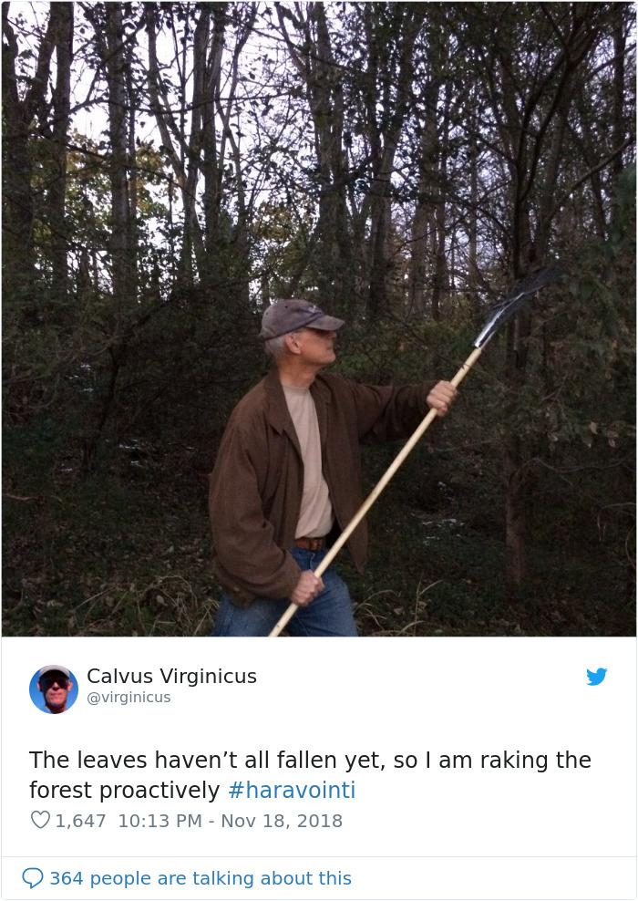 Finns-Troll-Trump-Raking-Leaves-Wildfire-Prevention