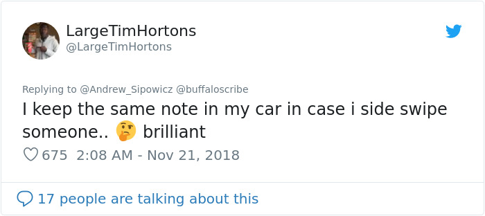 Guy Notices That Someone Hit And Run His Car, Finds A Hilarious Note From A 6th Grader