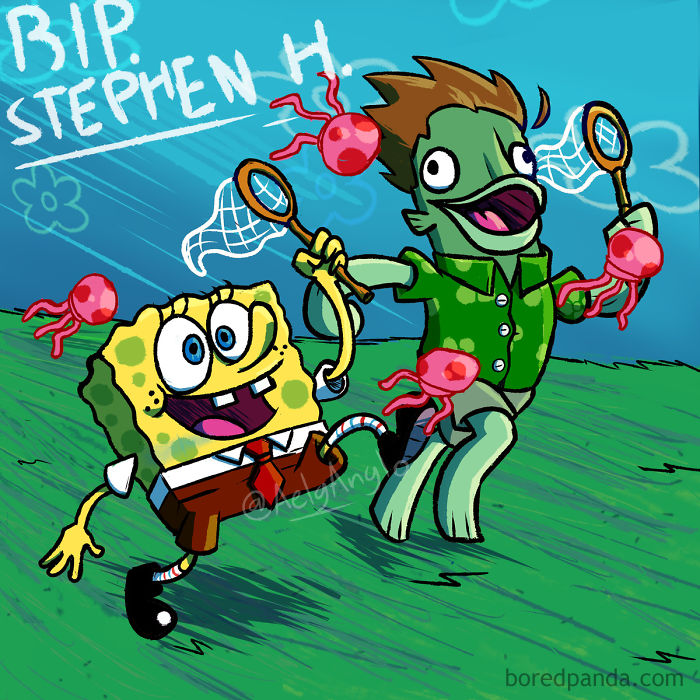 Spongebob Squarepants Maybe Is Having Fun With Stephen Hillenburg Now... It´s Nice Think In That