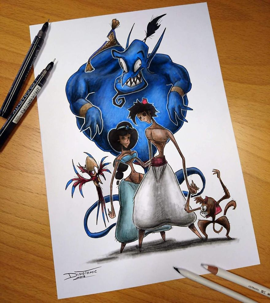 This Artist Transforms Your Favorite Character From Evil Beings That Will Destroy All Your Childhood Memories
