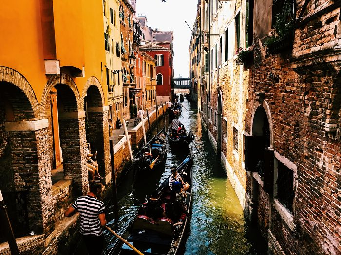 I Took 2 Shots Of 2 Different Canals In Venice