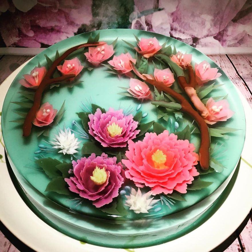 I Transform Floral Bouquets And Koi Ponds Into Edible 3d Jelly Art