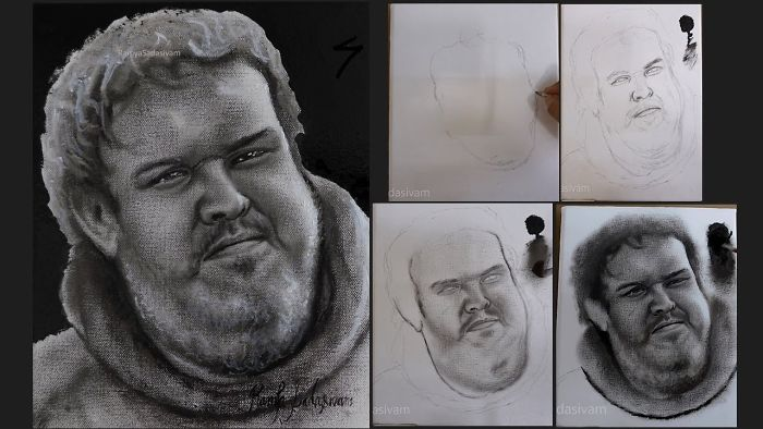 Speed Painting Of Hodor – Game Of Thrones
