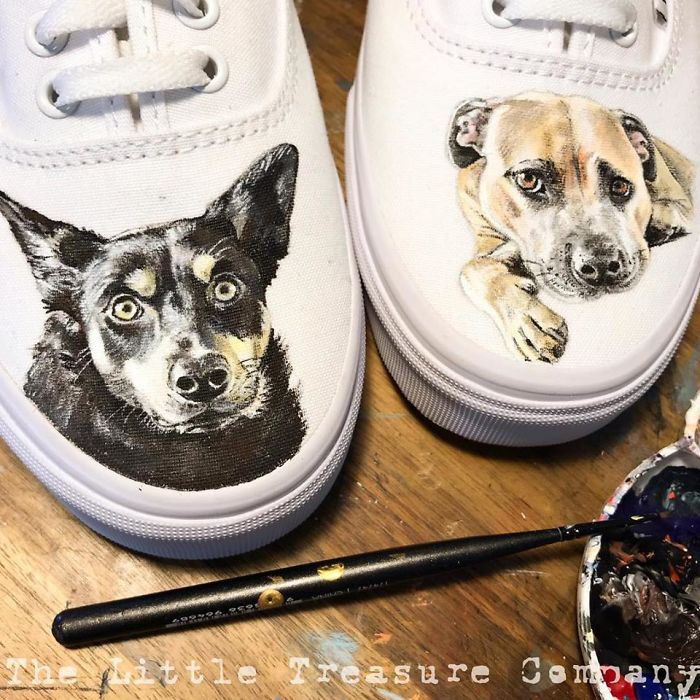 I Paint Portraits Of Pets On Shoes