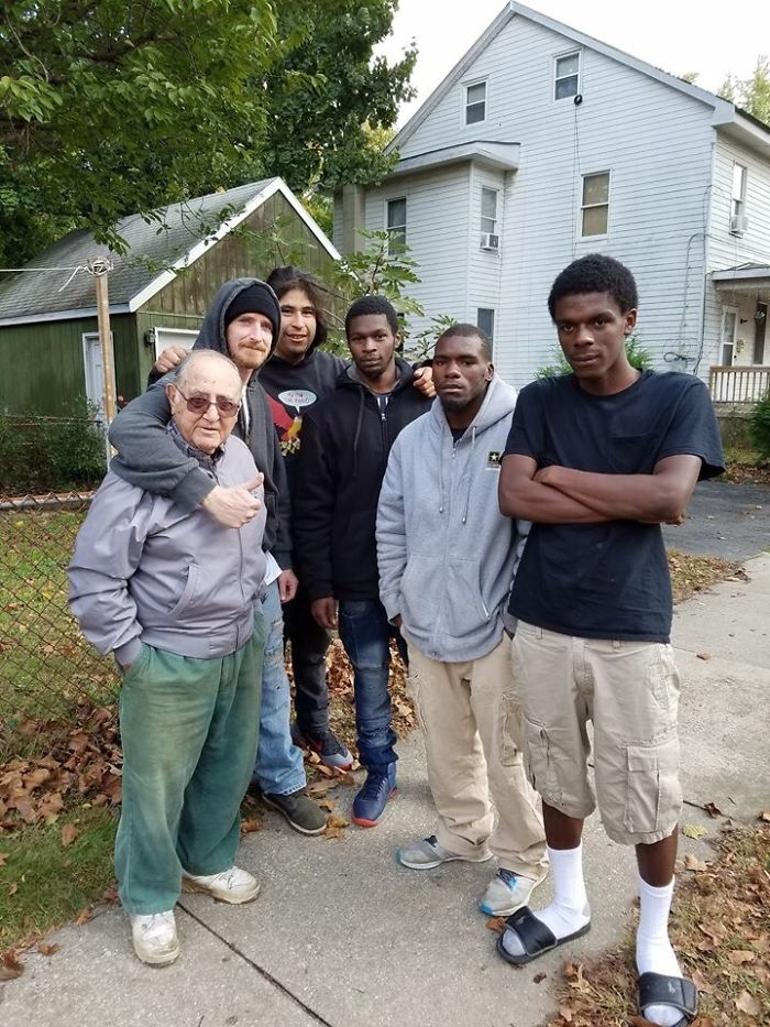 These Young Guys Saved Their Elderly Neighbor Mr. C From A House Fire